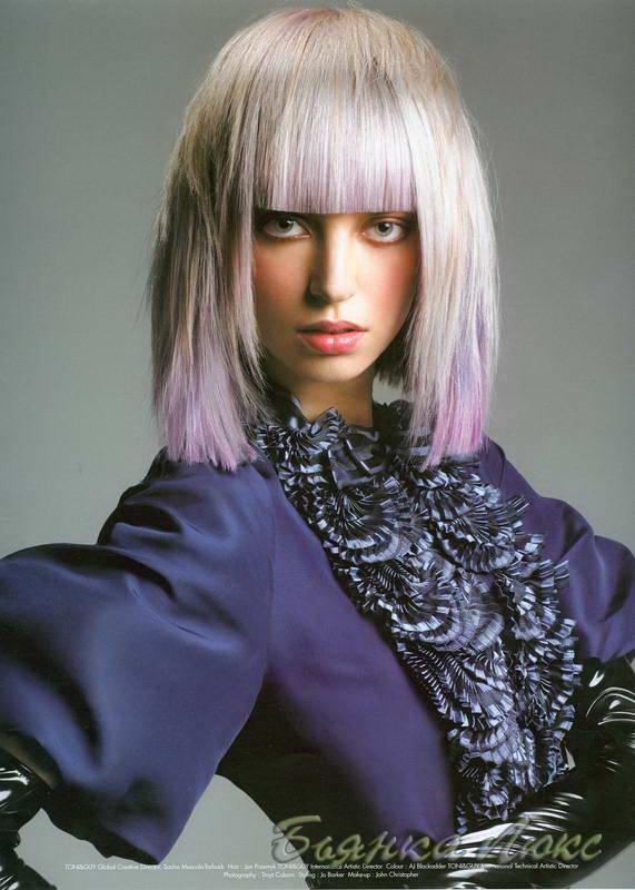 модные прически на длинные волосы 2008-2009