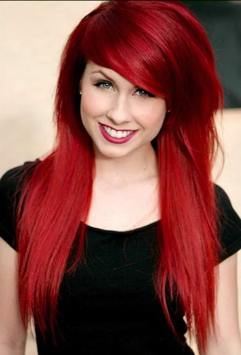 Фото из красного цвета волос в белый