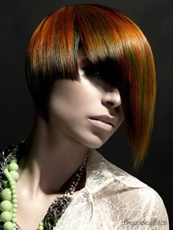 Фото с цветами волос колорирования