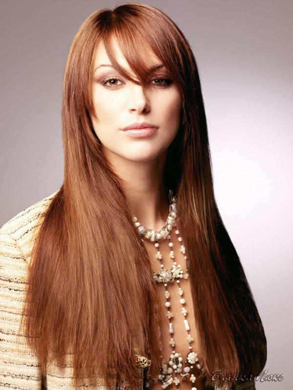 Красивая стрижка с длинными волосами