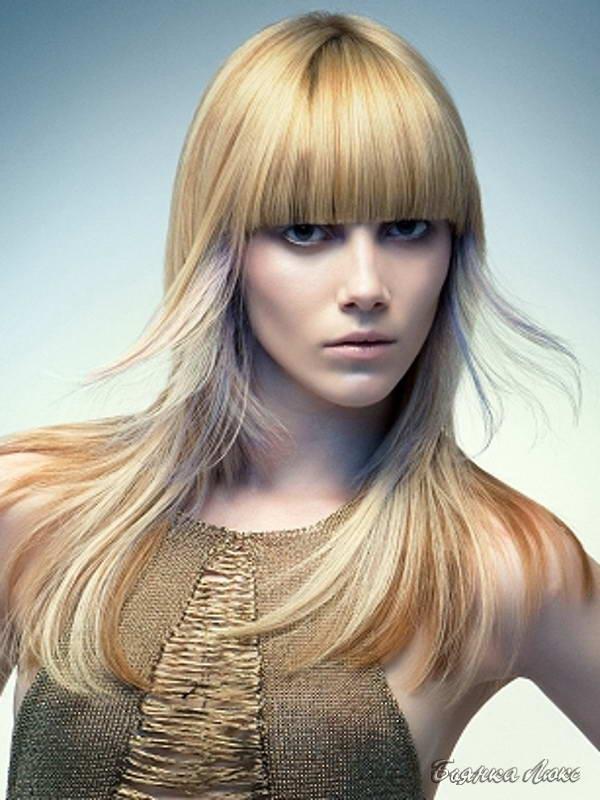 Мелирование блондирование