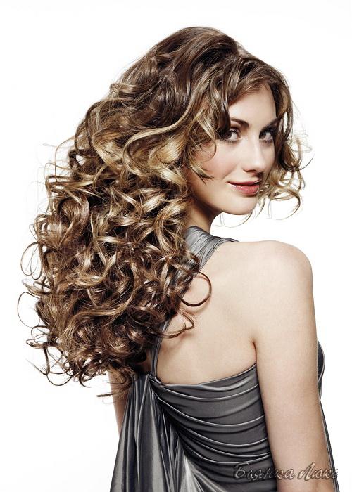 Крупная биозавивка волос не на всю длину