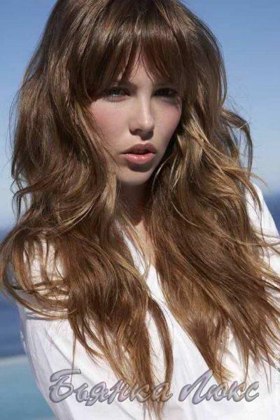 натуральный русый цвет волос с переходом