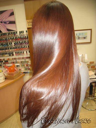 каштановый цвета волос с омбре фото