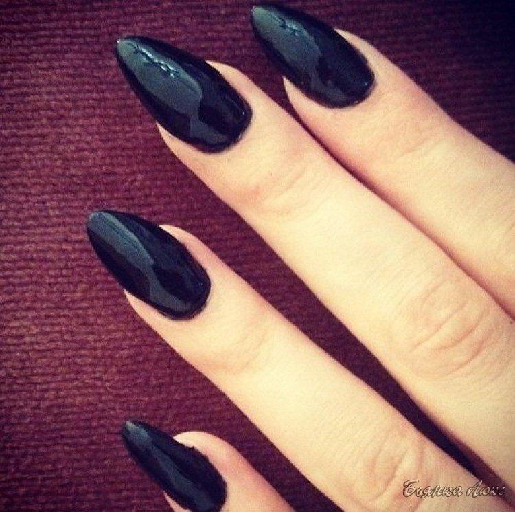 Ногти немного заостренные фото