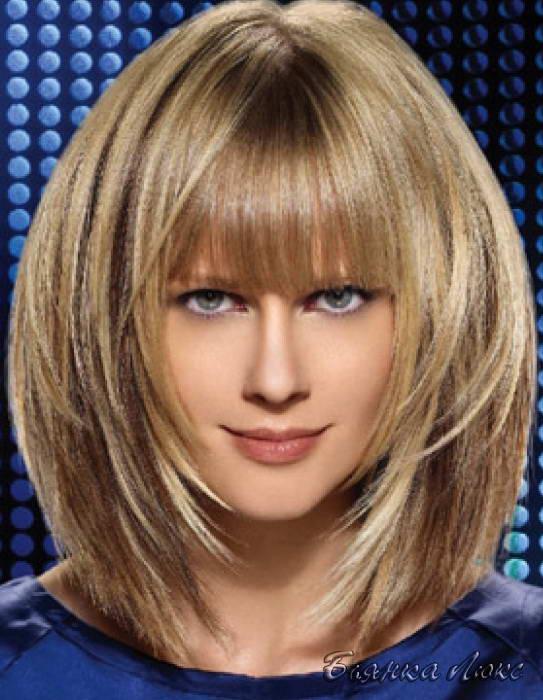 Мелирование на длинные русые волосы с челкой фото