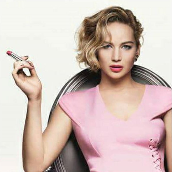 Jennifer Lawrence в кампании Dior Addict