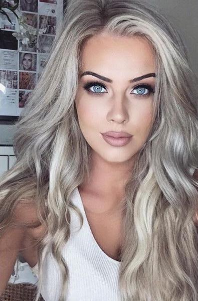 холодный блонд для темных волос