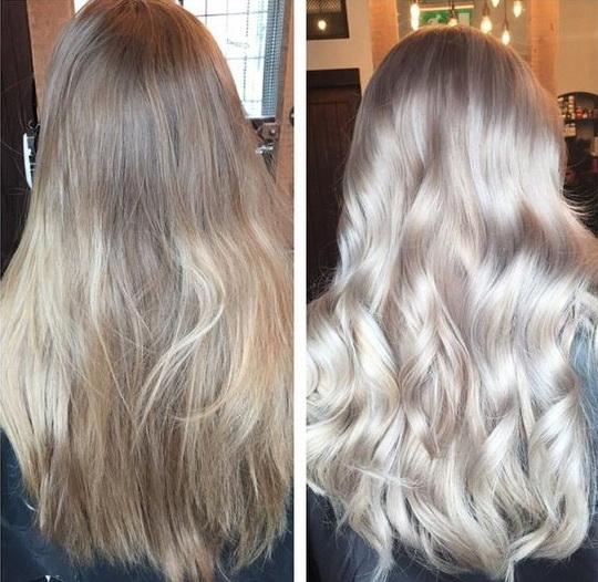 Пепельный холодный блонд цвет волос фото