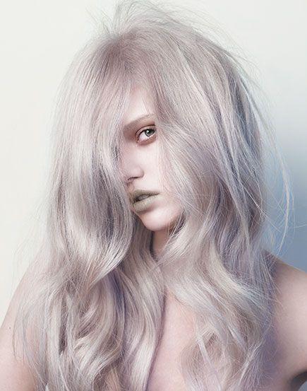 светлый блондин фиолетовый на модели носить