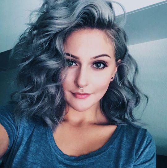 Цвет волос пепельно синий