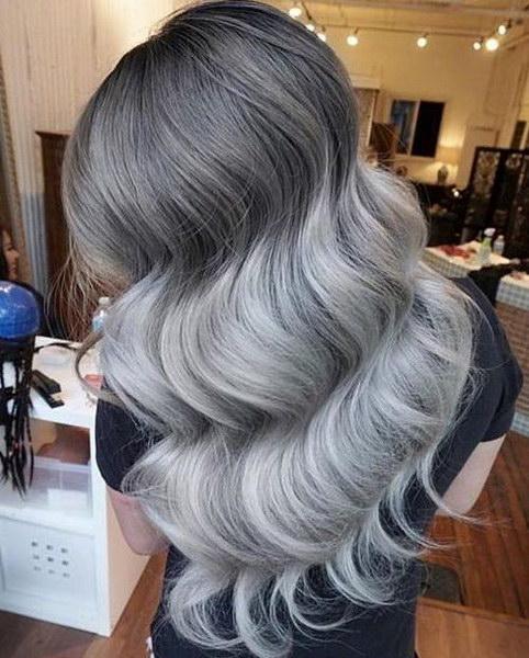 Балаяж на русые волосы фото пепельный оттенок