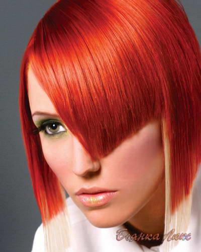 огненный рыжий цвет волос краска