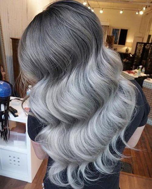 Ash-silver ombre на темные и черные волосы. Серебристо-пепельное омбре ... bfc31e19645fe