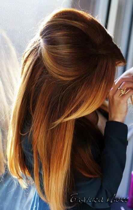 фото омбре на коричневые волосы