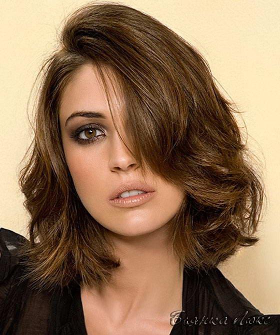 Укладка волосы средний мода