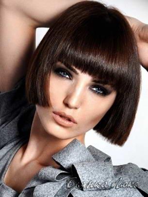 Стрижки каре для прямых коротких волос