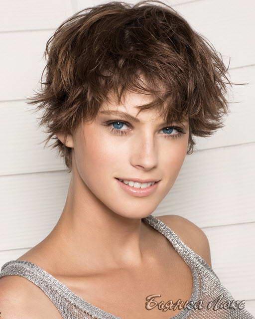 стрижка тонкие на короткие волосы фото