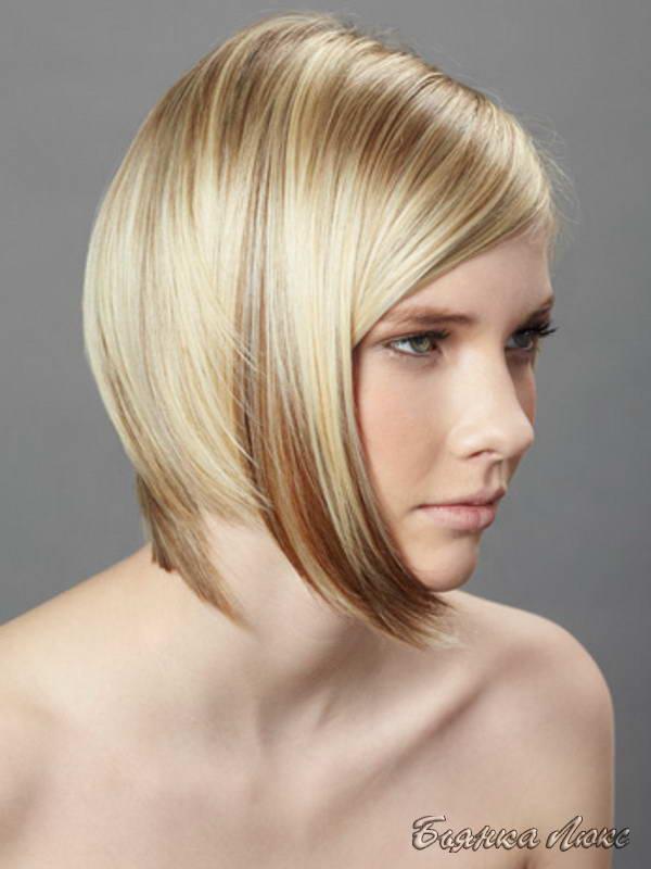 Причёски на тонкие волосы средней длины без укладки 80