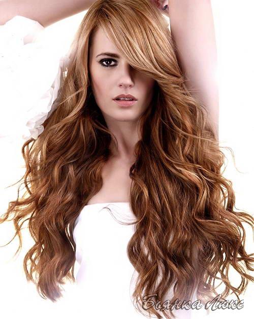 фото легкая химия на длинные волосы